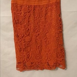 Lace and orange Cato skirt. S